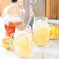 Sparkling Bourbon Peach Lemonade