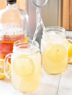 Sparkling Bourbon Peach Lemonade + A KitchenAid Sparkling Beverage Maker Giveaway! | cakenknife.com