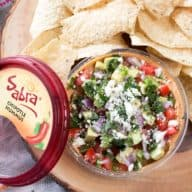South of the Border Hummus with Sabra Hummus | cakenknife.com