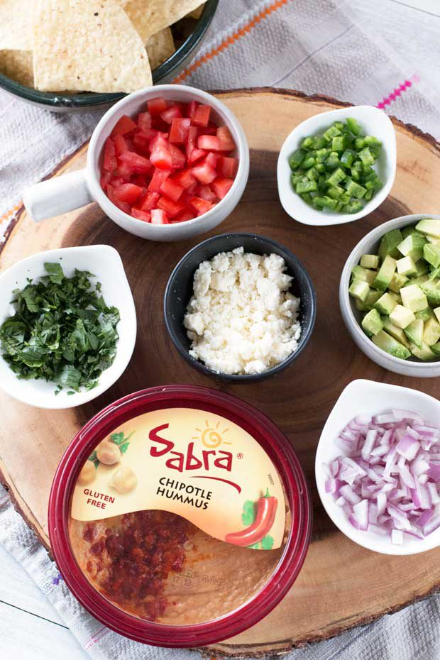 South of the Border Hummus with Sabra Hummus | cakenknife.com