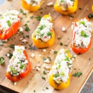 Greek Stuffed Roasted Sweet Peppers