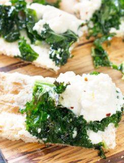 Grilled Lemon Kale Ricotta Flatbread | cakenknife.com