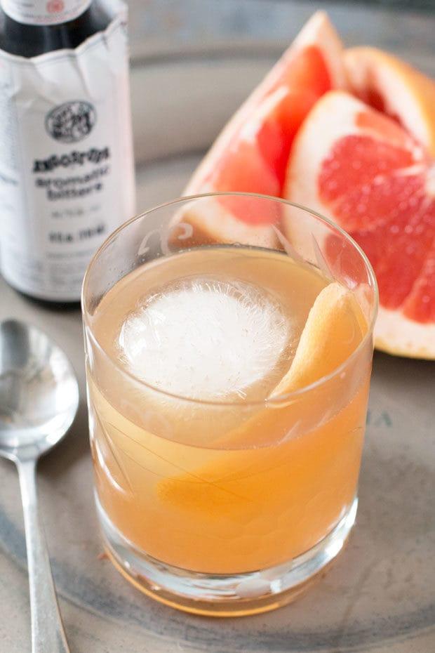 Sparkling Grapefruit Old Fashioned   cakenknife.com