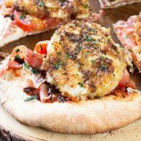 Fried Mozzarella Prosciutto Pizza