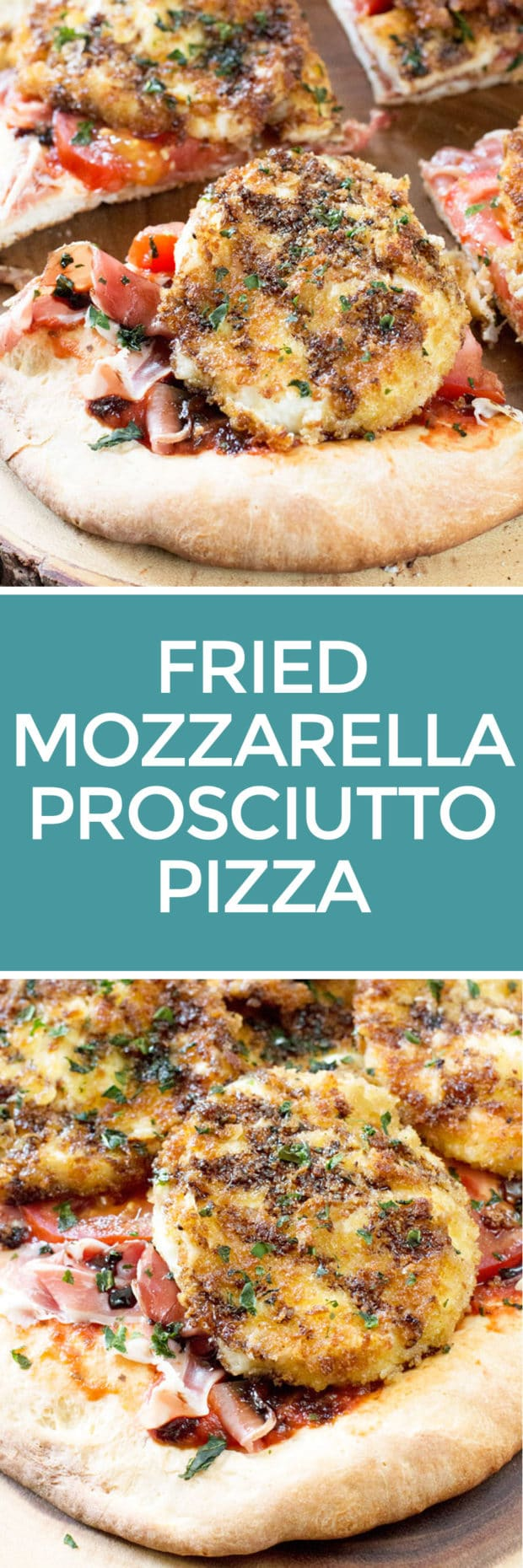 Fried Mozzarella Prosciutto Pizza | cakenknife.com