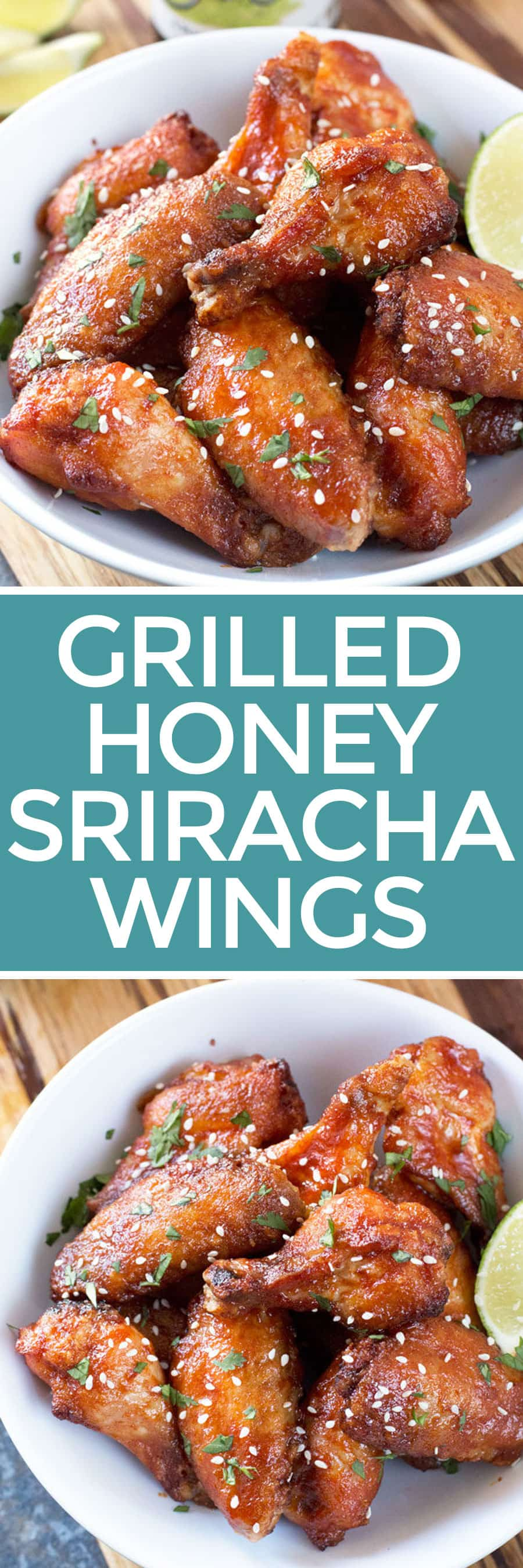 Grilled Honey Sriracha Wings | cakenknife.com