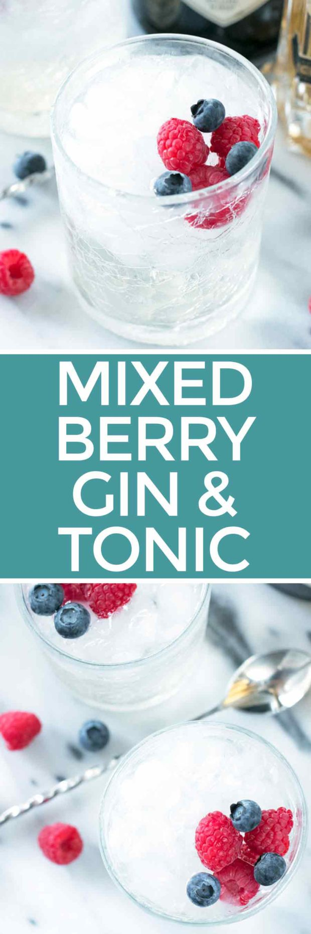 Berrylicious Gin & Tonic | cakenknife.com #patriotic #cocktail #summer