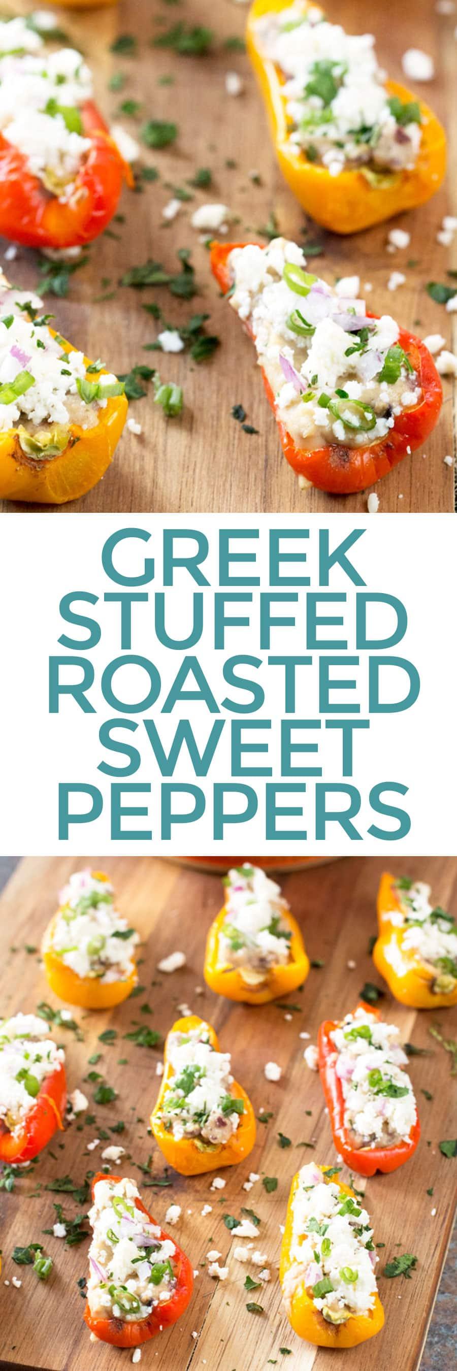 Greek Stuffed Roasted Sweet Peppers   cakenknife.com