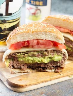 Bacon-Wrapped Guacamole Burger Bombs | cakenknife.com