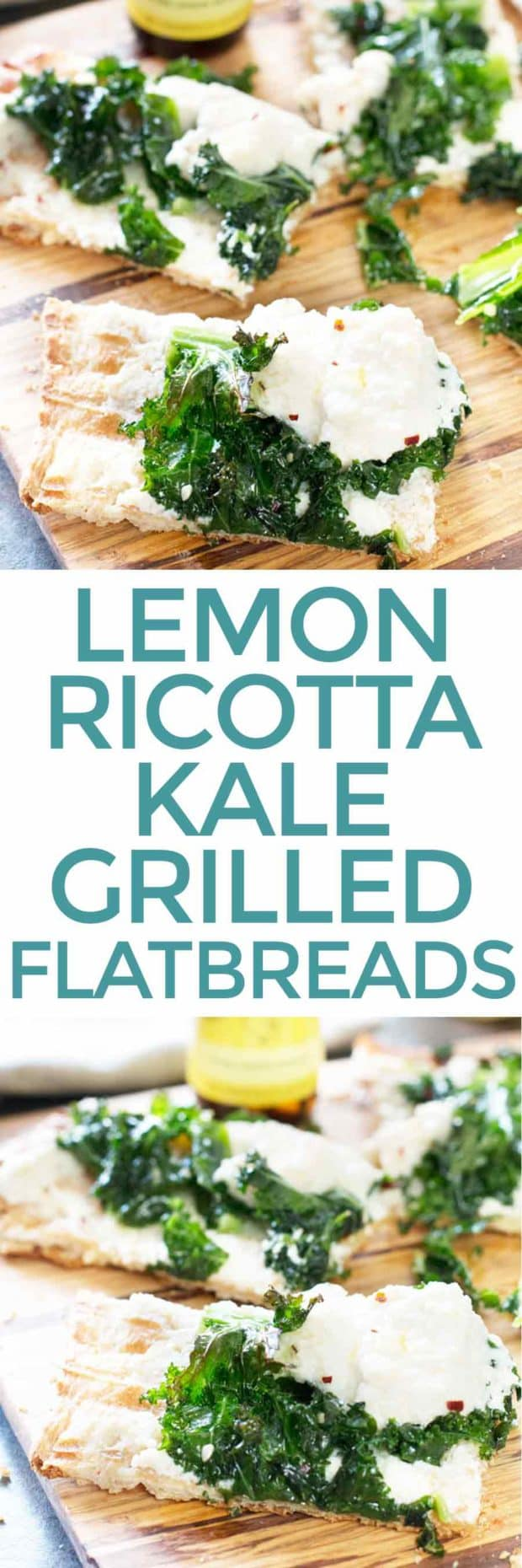 Grilled Lemon Ricotta Kale Flatbreads   cakenknife.com #grilling #BBQ #pizza