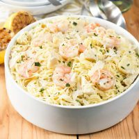 Lemon Shrimp & Artichoke Angel Hair Pasta