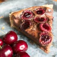 Nutella Cherry Tart | cakenknife.com