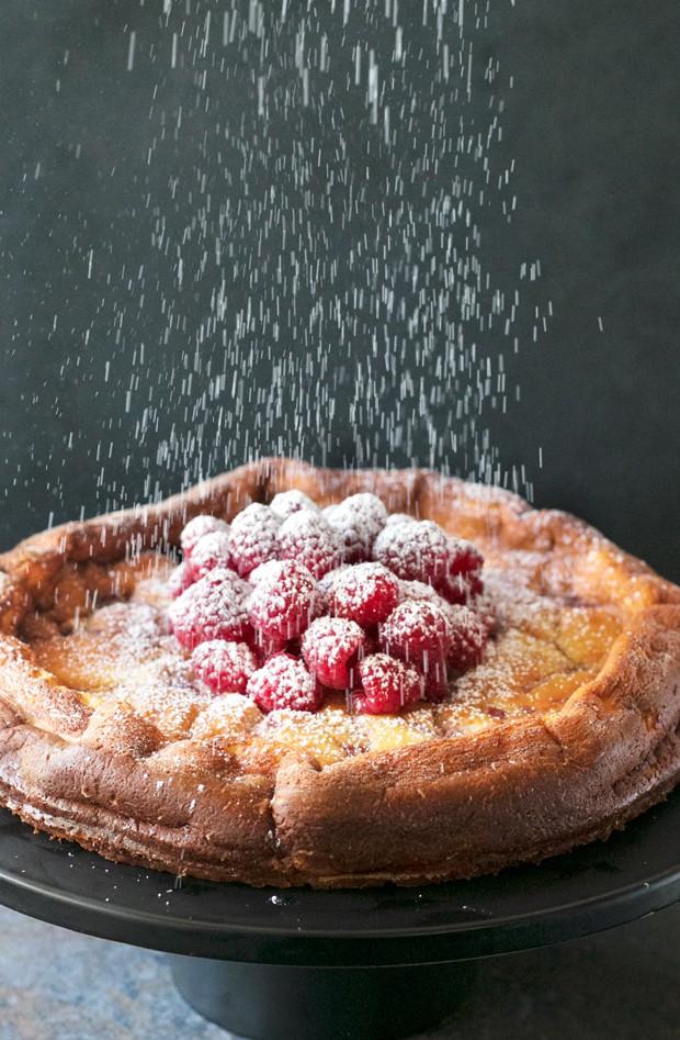 Raspberry Lemon Ricotta Cheesecake   cakenknife.com