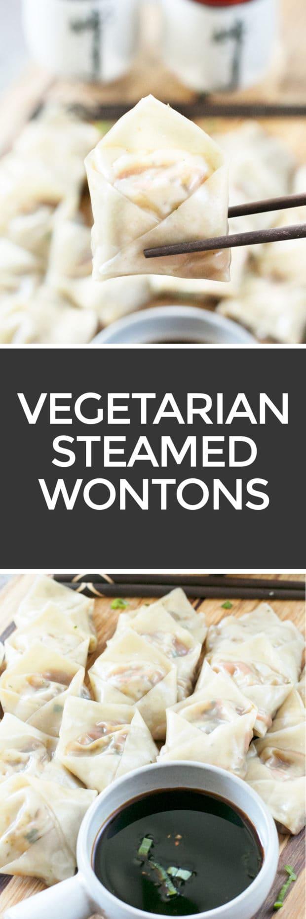 Steamed Vegetable Wontons | cakenknife.com