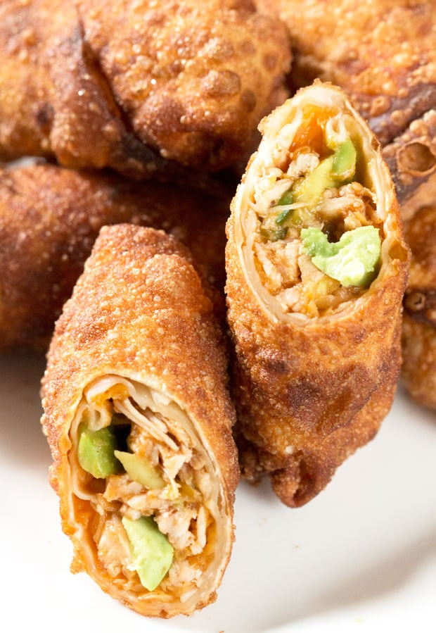 Avocado Eggrolls with BBQ Chicken | cakenknife.com