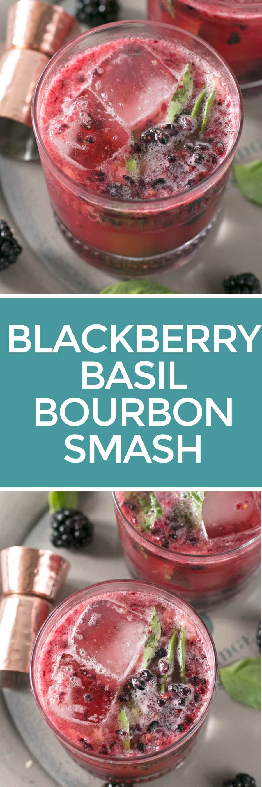 Blackberry Bourbon Basil Smash | cakenknife.com