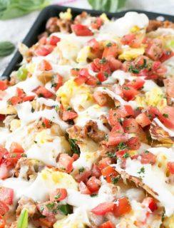 Breakfast Italian Nachos | cakenknife.com
