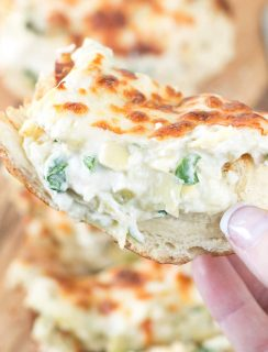 Chicken Spinach & Artichoke Dip French Bread | cakenknife.com