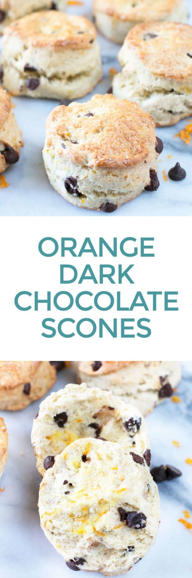 Orange Dark Chocolate Chip Scones | cakenknife.com
