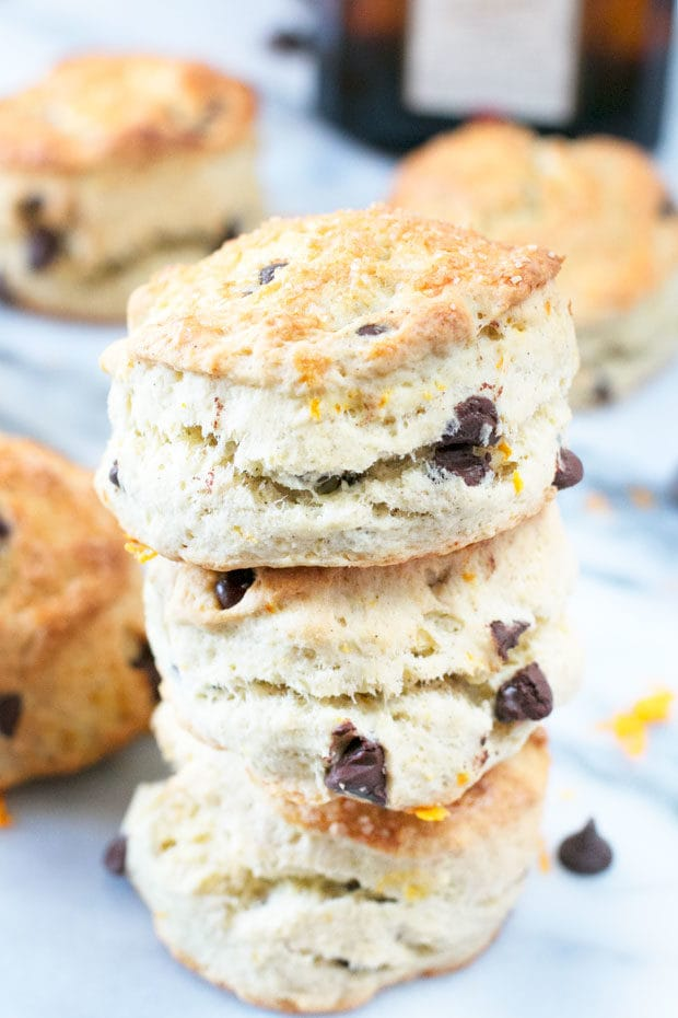 Orange Dark Chocolate Chip Scones | cakenknife.com