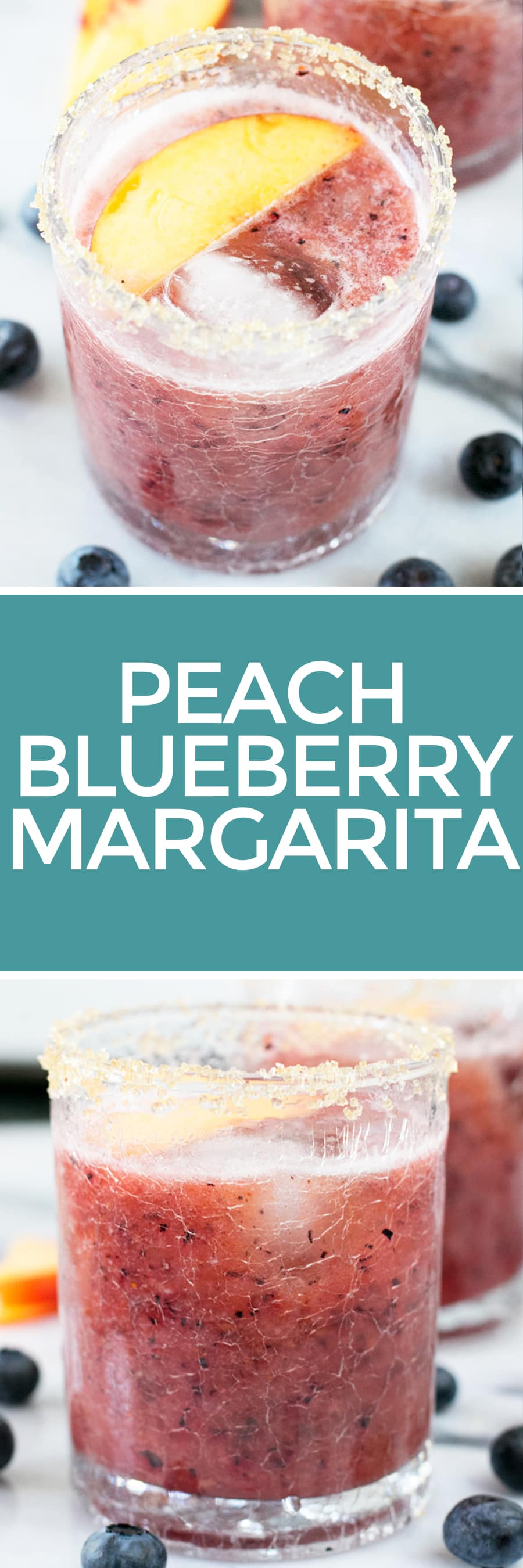 Peach Blueberry Margarita Recipe | cakenknife.com