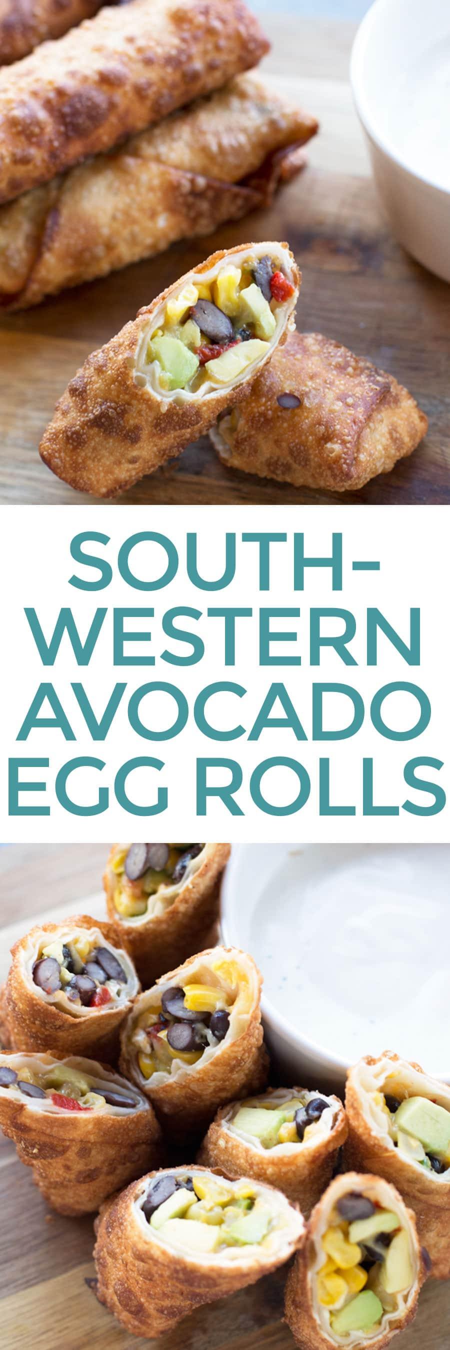 Southwestern Avocado Egg Rolls | cakenknife.com