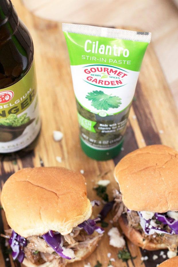 Cilantro Chili Lime Pulled Pork Sliders | cakenknife.com