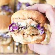 Cilantro Chili Lime Pulled Pork Sliders | cakenknife.com
