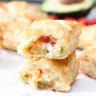 Avocado Cream Cheese Turnovers   cakenknife.com