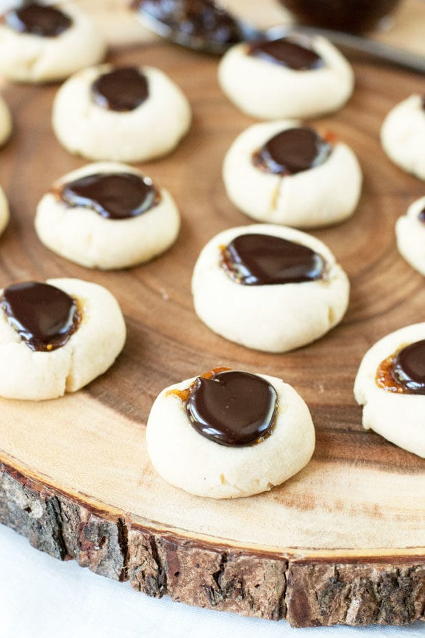 Chocolate Fig Thumbprint Cookies | cakenknife.com