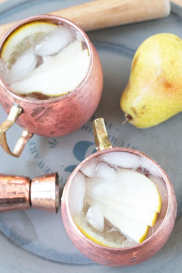 Pear Moscow Mule   cakenknife.com