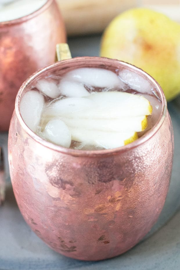 Pear Moscow Mule | cakenknife.com