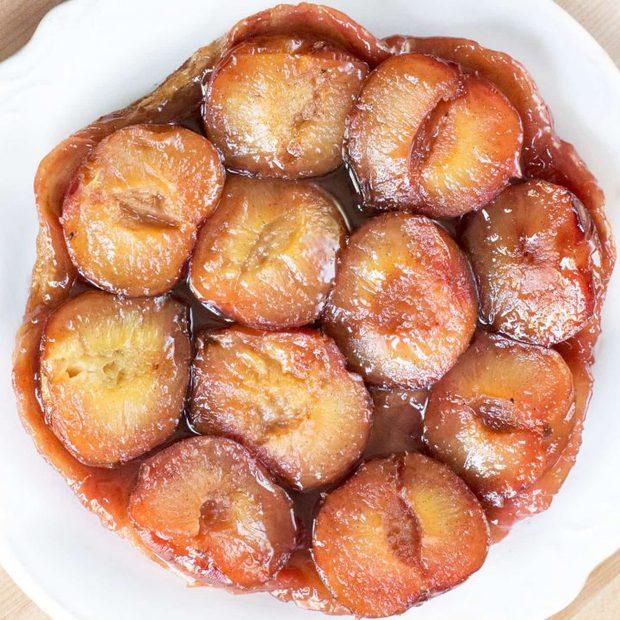 Plum Ginger Tart Tatin + A Le Creuset Giveaway! | cakenknife.com