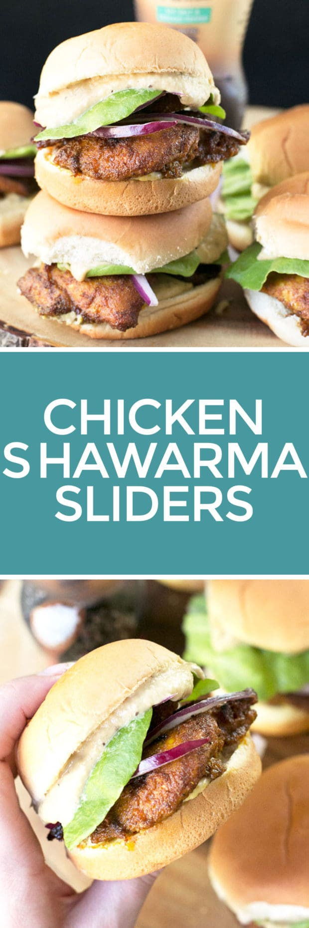 Chicken Shawarma Sliders with Sabra Spreads! | cakenknife.com
