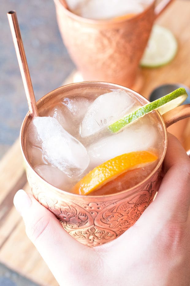 Blood Orange Moscow Mule | cakenknife.com