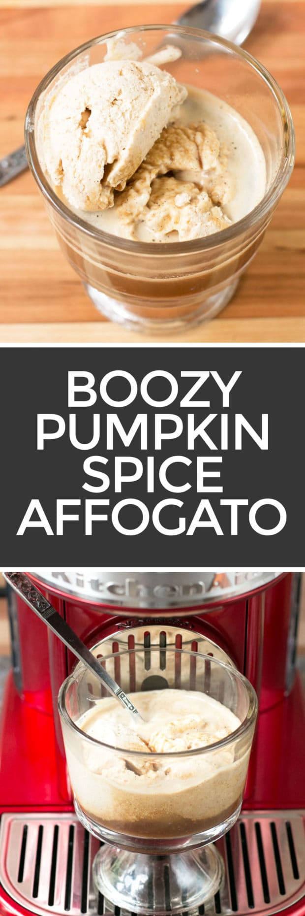 Boozy Pumpkin Spice Affogato + a KitchenAid® giveaway! | cakenknife.com