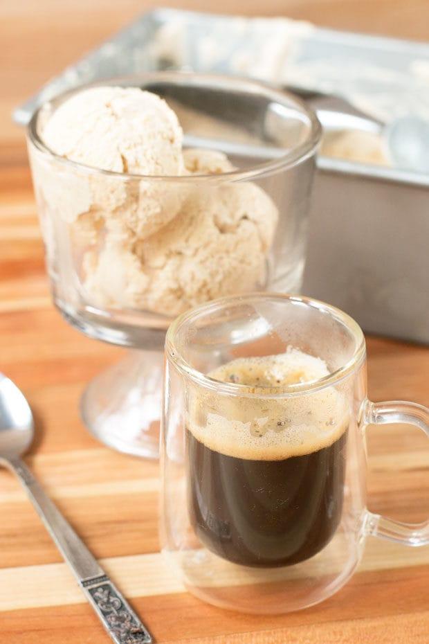 Boozy Pumpkin Spice Affogato + a KitchenAid® giveaway!   cakenknife.com
