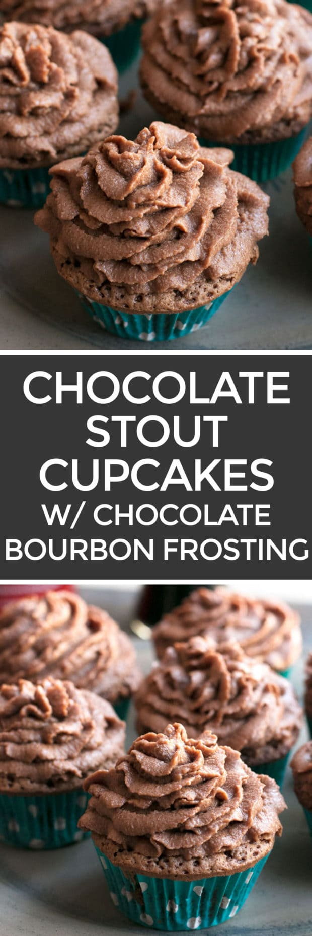 Chocolate Stout Cupcakes with Chocolate Bourbon Frosting – Cake 'n ...
