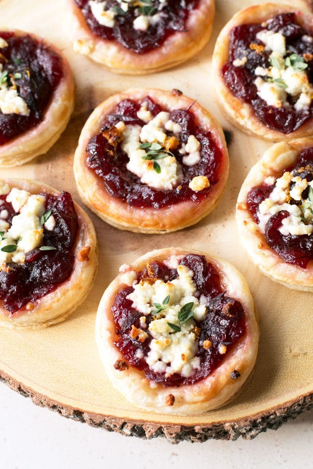 Cranberry Goat Cheese Tarts - Last Minute Thanksgiving Recipes   cakenknife.com