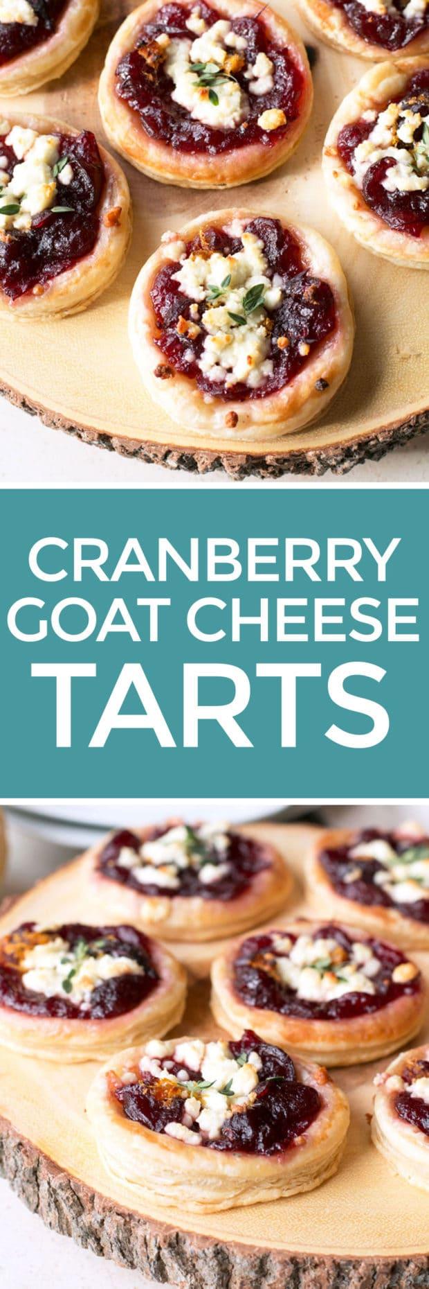 Cranberry Goat Cheese Tarts | cakenknife.com