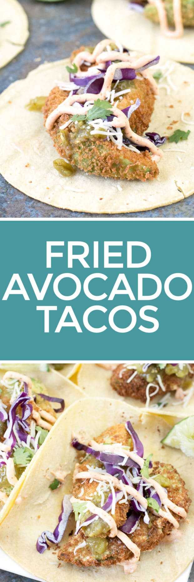 Fried Avocado Tacos | cakenknife.com