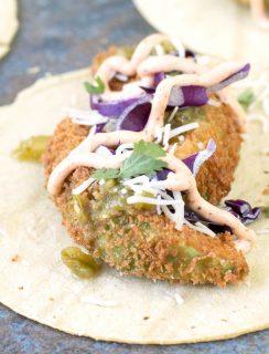 Fried Avocado Tacos   cakenknife.com