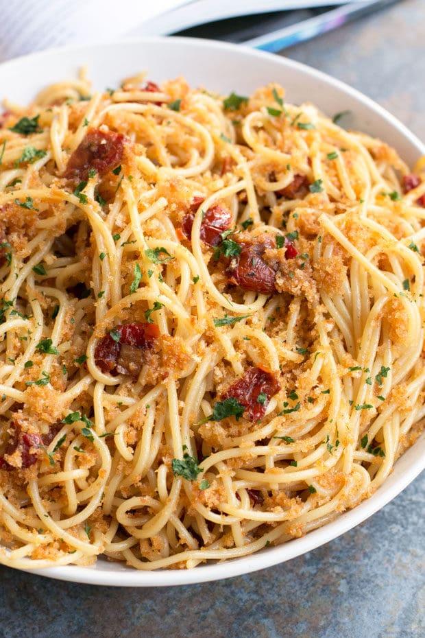 Thug Kitchen 101's Sun-Dried Tomato Carbonara | cakenknife.com