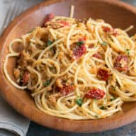 Thug Kitchen 101's Sun-Dried Tomato Carbonara | cakenknife.com
