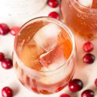 Cranberry Ginger Bourbon Fizz