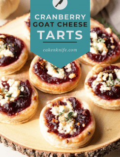 Cranberry Goat Cheese Tarts Pinterest Graphic