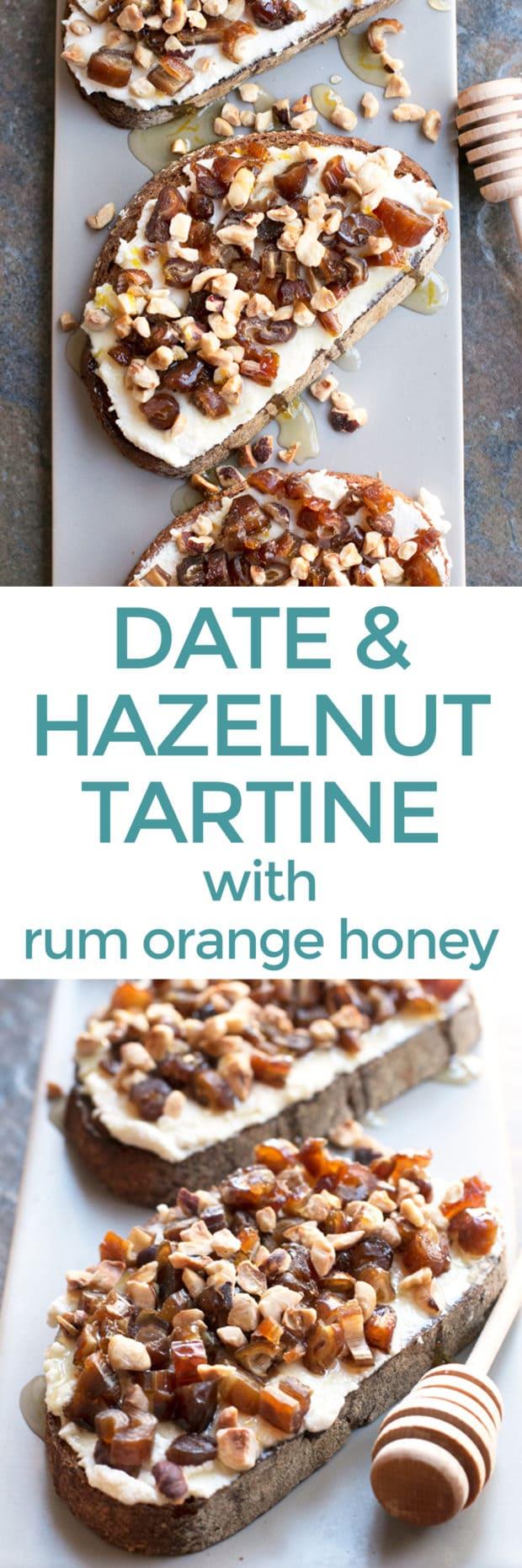 Ricotta, Date & Hazelnut Tartine with Spiced Rum Honey   cakenknife.com