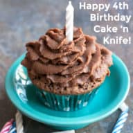 Happy 4th Birthday Cake 'n Knife!
