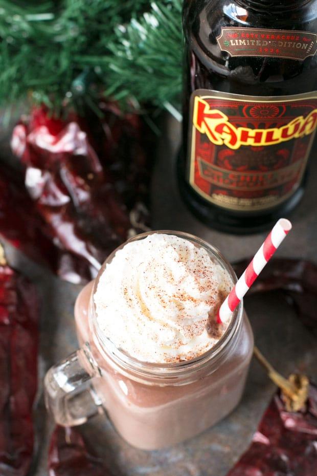 Boozy Chili Hot Chocolate | cakenknife.com