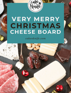 Very Merry Christmas Cheese Board Pinterest Graphic